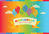 Abstract Happy Birthday! message with colorful balloons — Stock Vector