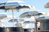 Umbrella or parasol - Italy beach — Stock Photo