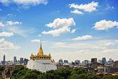 The Golden Mount at Wat Saket, A Landmarks of Bangkok THAILAND — Stock Photo