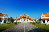 The Marble Temple, Wat Benchamabopitr Dusitvanaram Bangkok THAILAND — Stock Photo