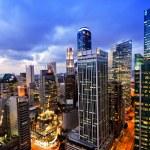 crepuscolo d'affari città singapore — Foto Stock #50963001