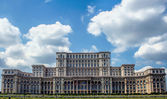 Peoples's Palace in Bucharest, Romania. Romanian Parliament — Stock Photo