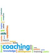 Coaching concept word cloud — Stock Photo