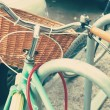 Vintage Bicycle with basket — Stock Photo #50549665