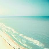 Turquoise retro beach — Stock Photo