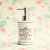 Vintage soap dispenser — Stock Photo