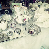 Vintage tea service — Foto de Stock