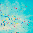 Colored balloons in flight — Stock Photo #50550767