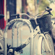 Bicycle parked in the city — Stock Photo #50551085