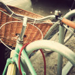 Vintage Bicycle with basket — Stock Photo #50551331