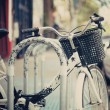 Bicycle parked in the city — Stock Photo #50552131