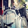 Bicycle parked in the city — Stock Photo #50552497