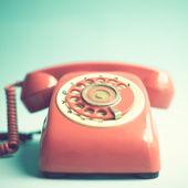 Retro czerwony telefon — Zdjęcie stockowe