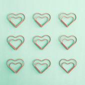 Heart clips — Stock Photo