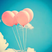 Pink Balloons on Sky — Stock Photo