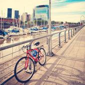 Bicycle in the port — Zdjęcie stockowe