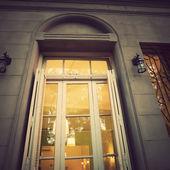 Window with lanterns — Stock Photo