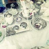 Vintage tea service — Foto Stock