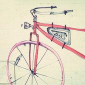 Bicycle Street Art — Stock Photo