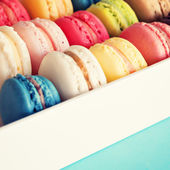 Sweet and colourful french macaroons — Stock Photo
