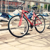 Bicycle in the port — Foto de Stock