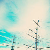Mast of old ship — Stock Photo