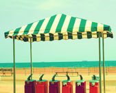 Awning on the beach — Stock Photo