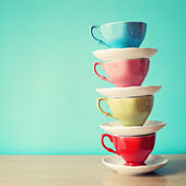 Color coffee cups — Stock Photo