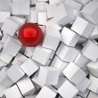 Cubes and sphere red — Stock Photo #51362831