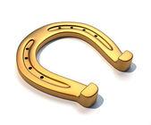 Ferro di cavallo dorato — Foto Stock