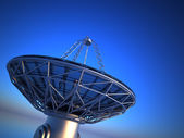 Parabolic antenna( radio telescope)  — Stock Photo