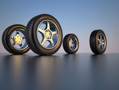 Car wheel tire — Stock Photo