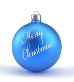 Blue Christmas ornament  — Stock Photo