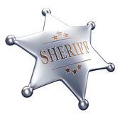 Sheriff badge — Stock Photo