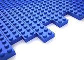 Blue brick toy — Stock Photo