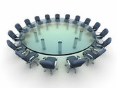 Glass conference table  — Stock Photo