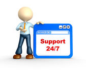 Support 24 7 — Stock Photo