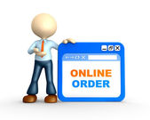Online order — Stock Photo