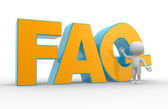 FAQ ( Frequently Asked Questions ).  — Foto de Stock