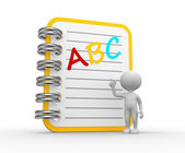 ABC - notebook — Foto Stock