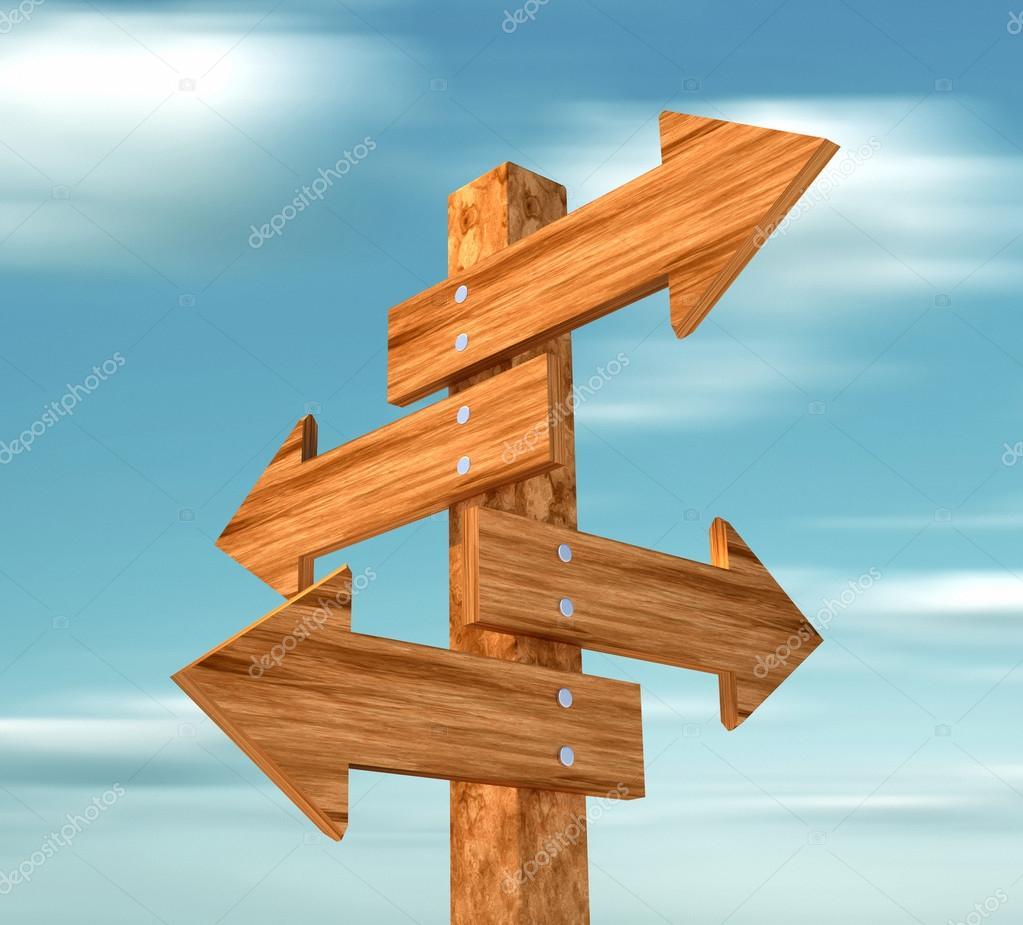 Panneau directionnel en bois — Photographie orlaimagen © #51363035 ~ Poivriere En Bois Signe M