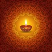 Diwali decorativa lámpara de diseño — Vector de stock