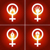 Female Gender Signs Abstract — Vettoriale Stock