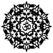 Spiritual Om Design — Stock Vector