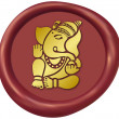 Golden Ganesha Wax Seal — Stock Photo #50628845