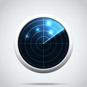 Radar icon — Stock Vector