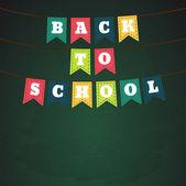 Back to school on flags — Vecteur
