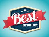 Mejor placa de producto — Vector de stock