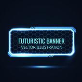 Futuristic banner — Stock Vector