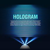 Futuristic hologram — Vector de stock